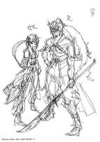 Hakuryuu and Hakuei's initial design