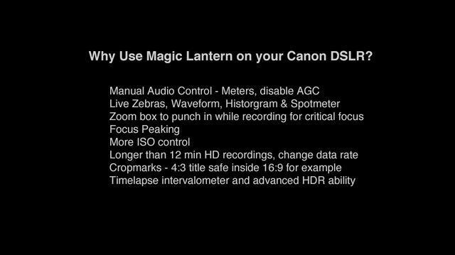 Magic Lantern Unified - Install Tutorial