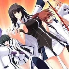 The line of main heroines. (Kazuko on her sister's right)