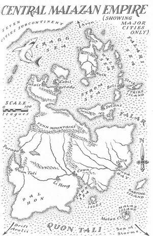 Map Malazan Empire