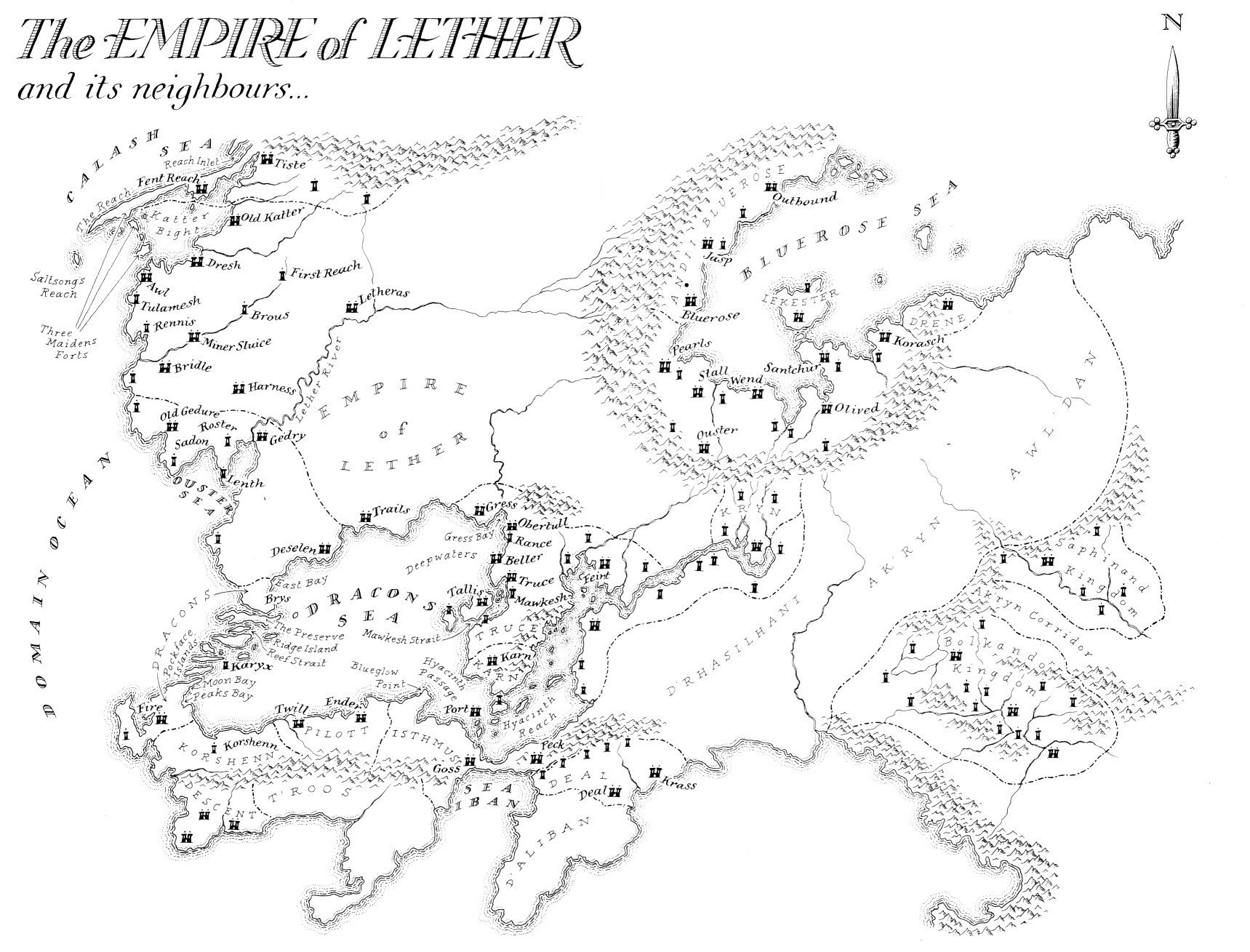 Image map empire of lether jpg malazan wiki fandom powered by wikia