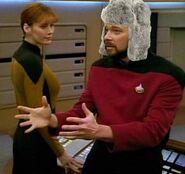 Riker wearing fur