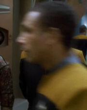 Blurry Starfleet officer