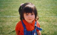 Marina aged two in 1987