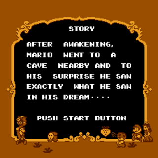 The second half of the story screen in <i>Super Mario USA</i>.