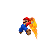 Mario Slam Dunking the Basketball