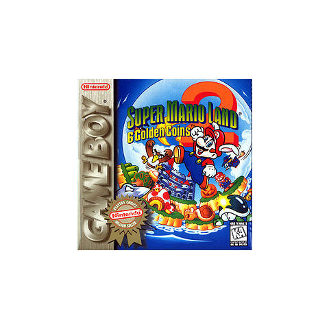 The North American boxart for <i>Super Mario Land 2: 6 Golden Coins</i>.