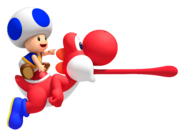 Red Yoshi Artwork - New Super Mario Bros. Wii
