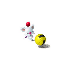Moogle throwing the ball