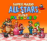 Super Mario All-Stars + Super Mario World - Title Screen