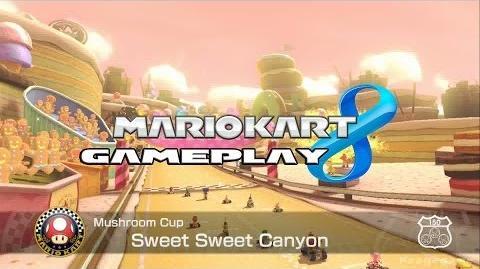 Mario Kart 8 - Sweet Sweet Canyon - Mushroom Cup - Peach Gameplay HD