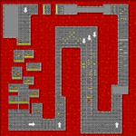 SNES Bowser Castle 3 map