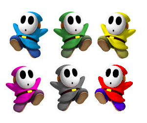 File:Shy Guys (all colors).png