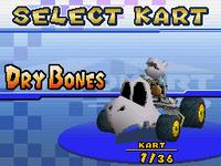 Banisher - Kart Select (Dry Bones) - Mario Kart DS