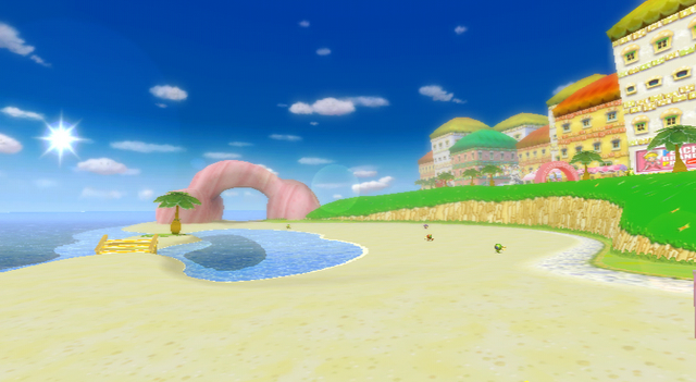 File:Peach Beach Overview - Mario Kart Wii.png
