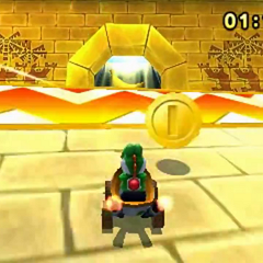 Yoshi entering the Golden Temple.