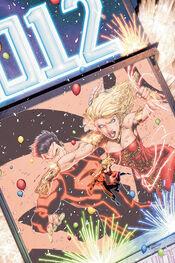 Wonder Girl versus Superboy.