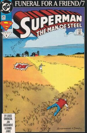 Cover for Superman: Man of Steel #21 (1993)