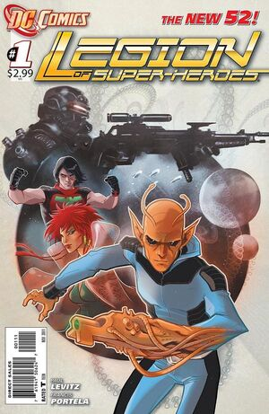 Cover for Legion of Super-Heroes #1 (2011)