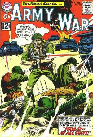 Cover for Our Army at War #125 (1962)