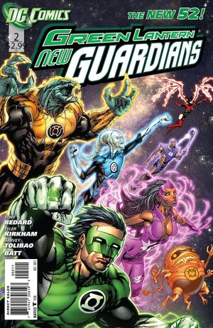 Cover for Green Lantern: New Guardians #2 (2011)