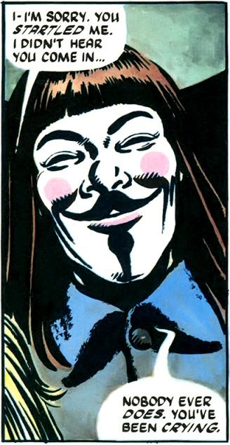 V for vendetta movie vs comic