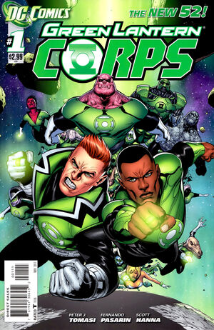 Cover for Green Lantern Corps #1 (2011)