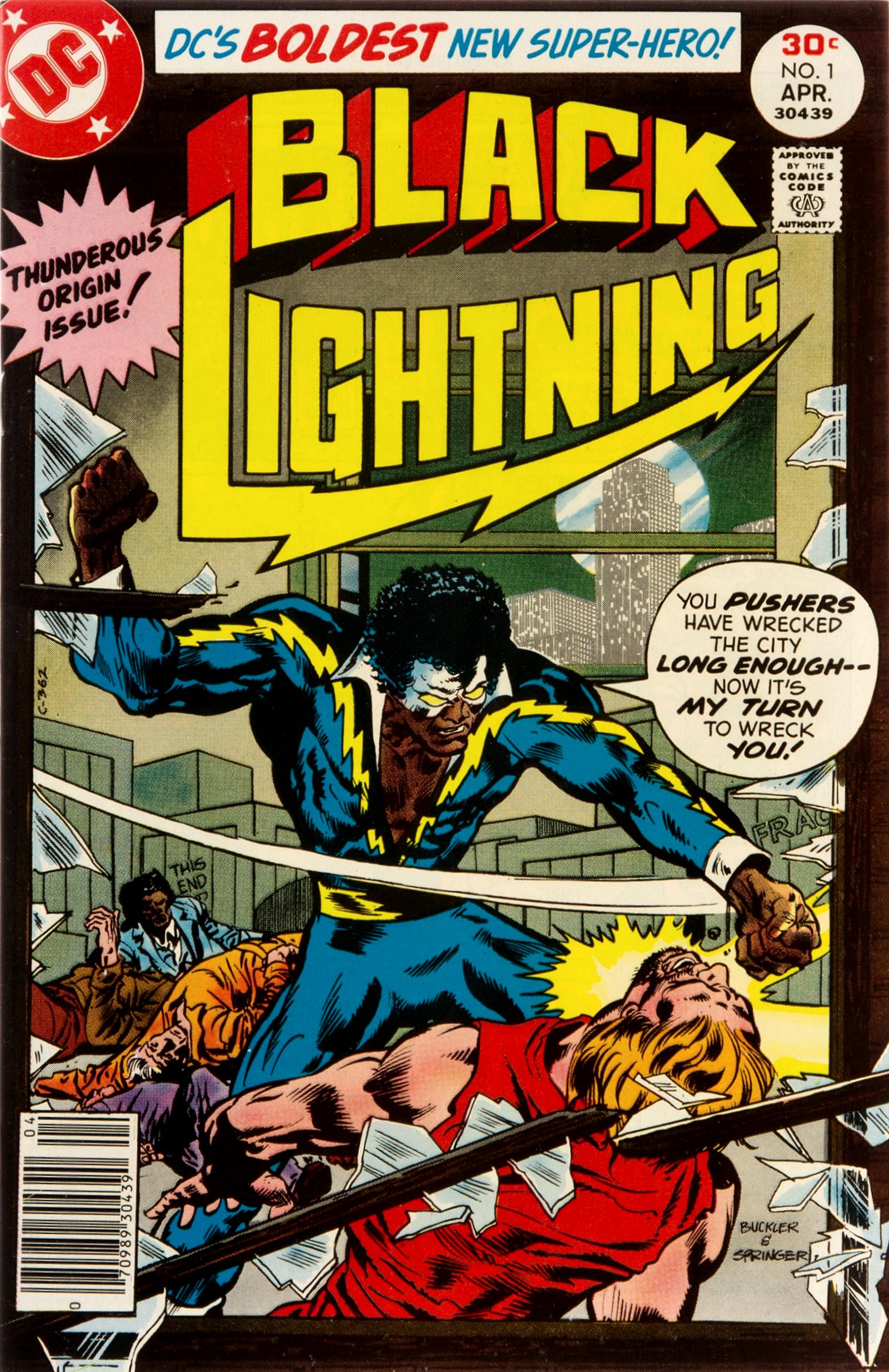 Znalezione obrazy dla zapytania black lightning first appearance
