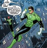 Hal gets a ring from Sinestro.