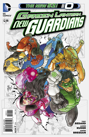 Cover for Green Lantern: New Guardians #0 (2012)