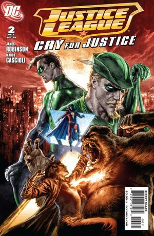 Cover for Justice League: Cry for Justice #2 (2009)