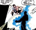 Karate Kid kicks Darkseid in the face