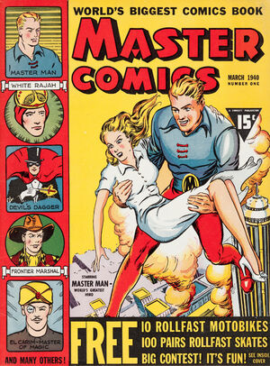 Cover for Master Comics #1 (1940)