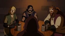 Thor Confronts Warriors Three Pub TTA
