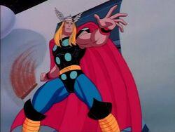 Thor Swings Hammer