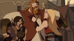 Thor Grabs Volstagg TTA