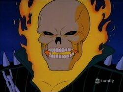 Ghost Rider Flame Head