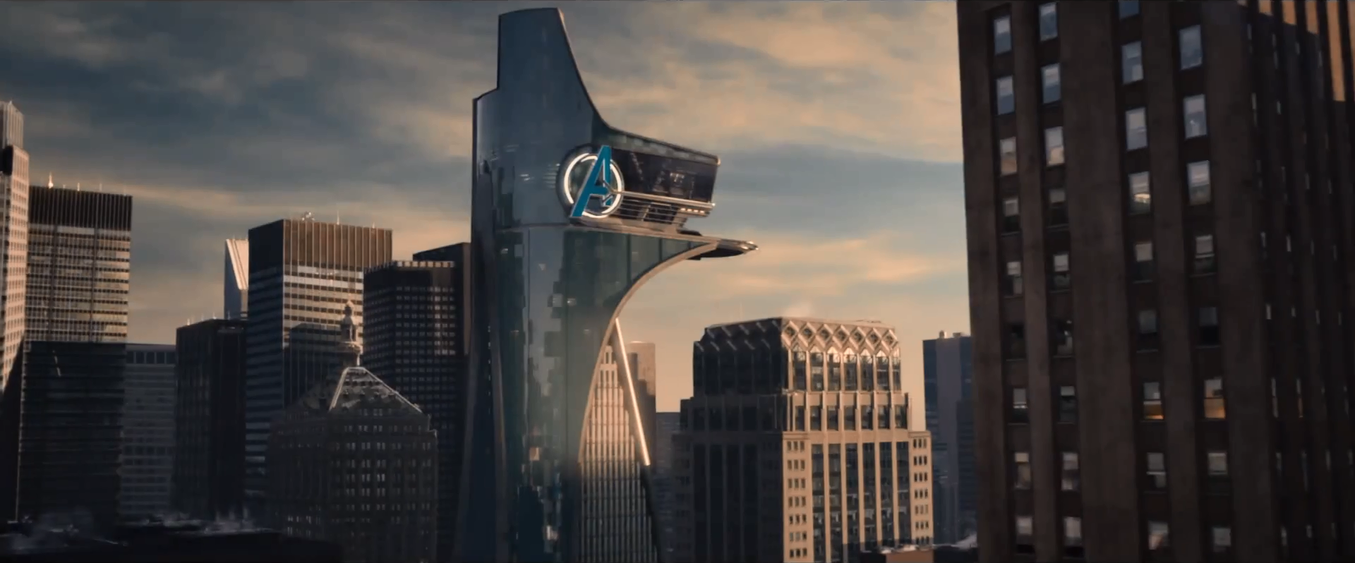 Avengers Tower ... Oscorp Tower In Iron Man 3