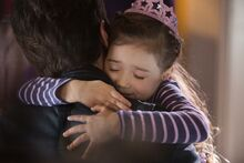 Cassie hugs Scott