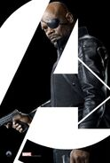 Nick Fury Avengers poster