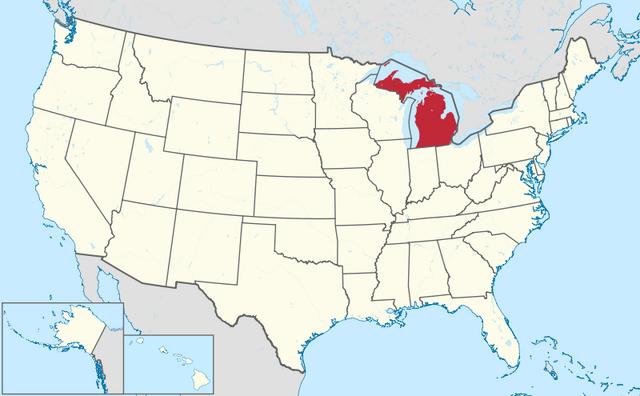 File:Map of Michigan.png