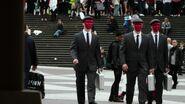 Red masks