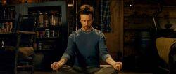 Bruce meditating