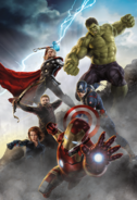 Avengers AOU mural