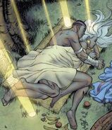 T'Challa (Earth-616) and Ororo Munroe (Earth-616) from Storm Vol 1 4 0001