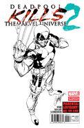 Deadpool Kills the Marvel Universe Vol 1 2 2nd Printing Variant