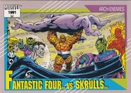 Fantastic Four vs. Skrulls (Earth-616) from Marvel Universe Cards Series II 0001