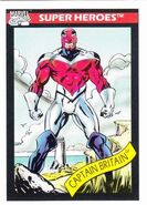 Brian Braddock (Earth-616) from Marvel Universe Cards Series I 0001