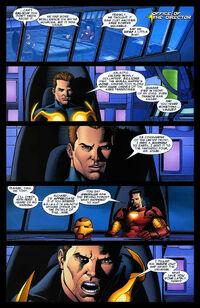 Richard Rider (Earth-616) and Anthony Stark (Earth-616) from Nova Vol 4 2 001