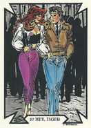 Peter Parker and Mary Jane Watson (Earth-616) from Todd Macfarlane (Trading Cards) 0001